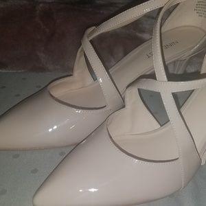 nine west nude patent heel size 8.5
